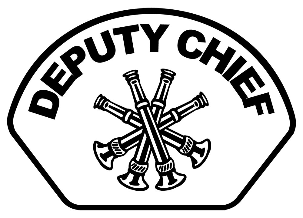Deputy Chief - Front Helmet Decal-Derks Uniforms