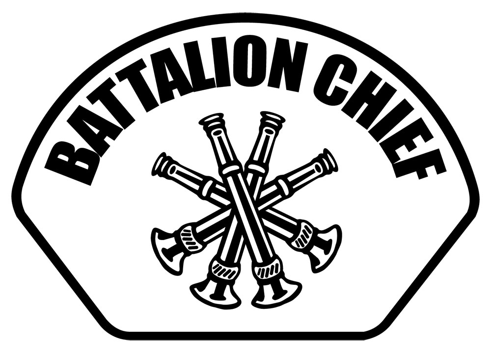 Battalion Chief - Front Helmet Decal-Derks Uniforms