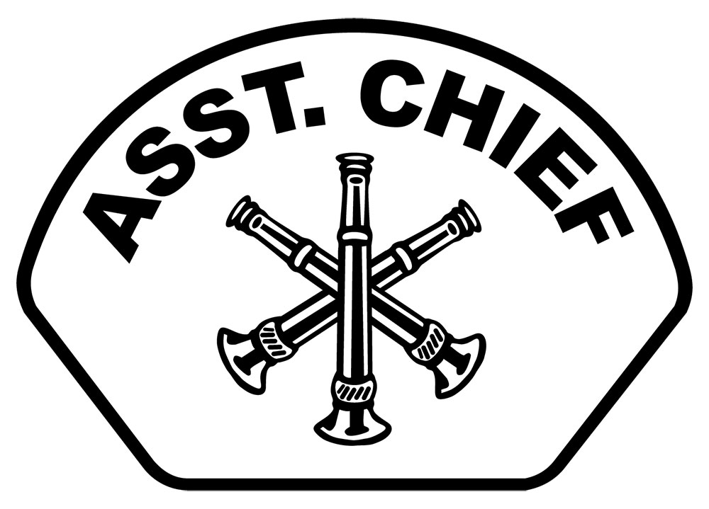 Asst. Chief - Front Helmet Decal-Derks Uniforms