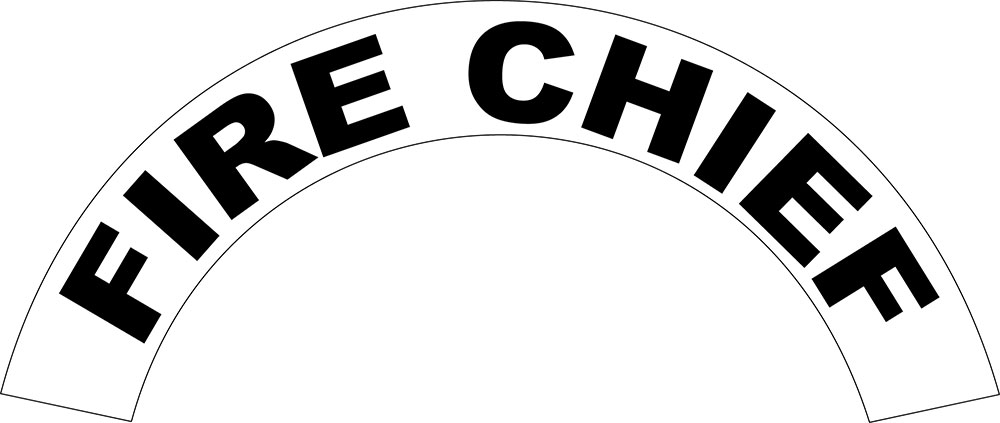 Fire Chief - Side Helmet Decal-