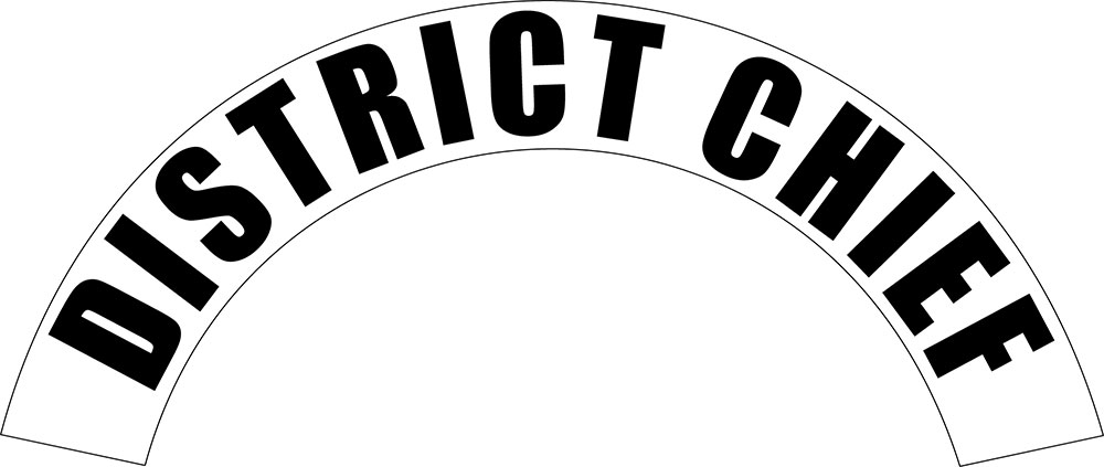 District Chief - Side Helmet Decal-