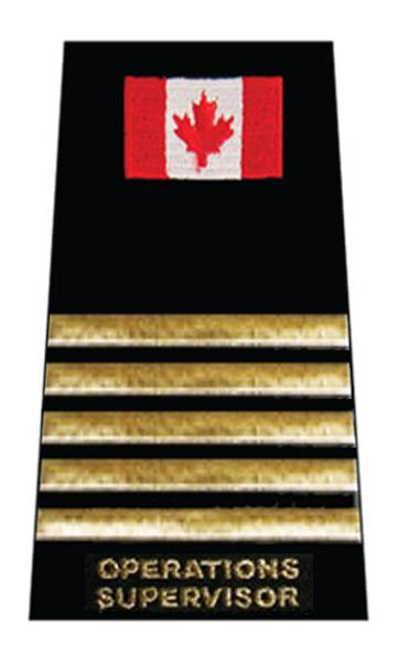 Operations Supervisor 5 Gold Bars + Flag Slip-On-
