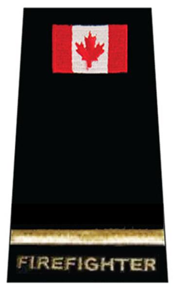 Fire Fighter Gold Bar + Flag Slip-On-