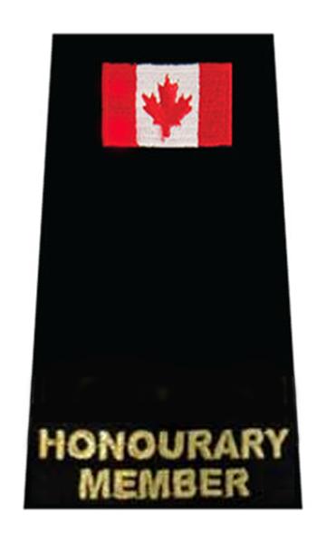 Honourary Member + Flag  Slip-On-