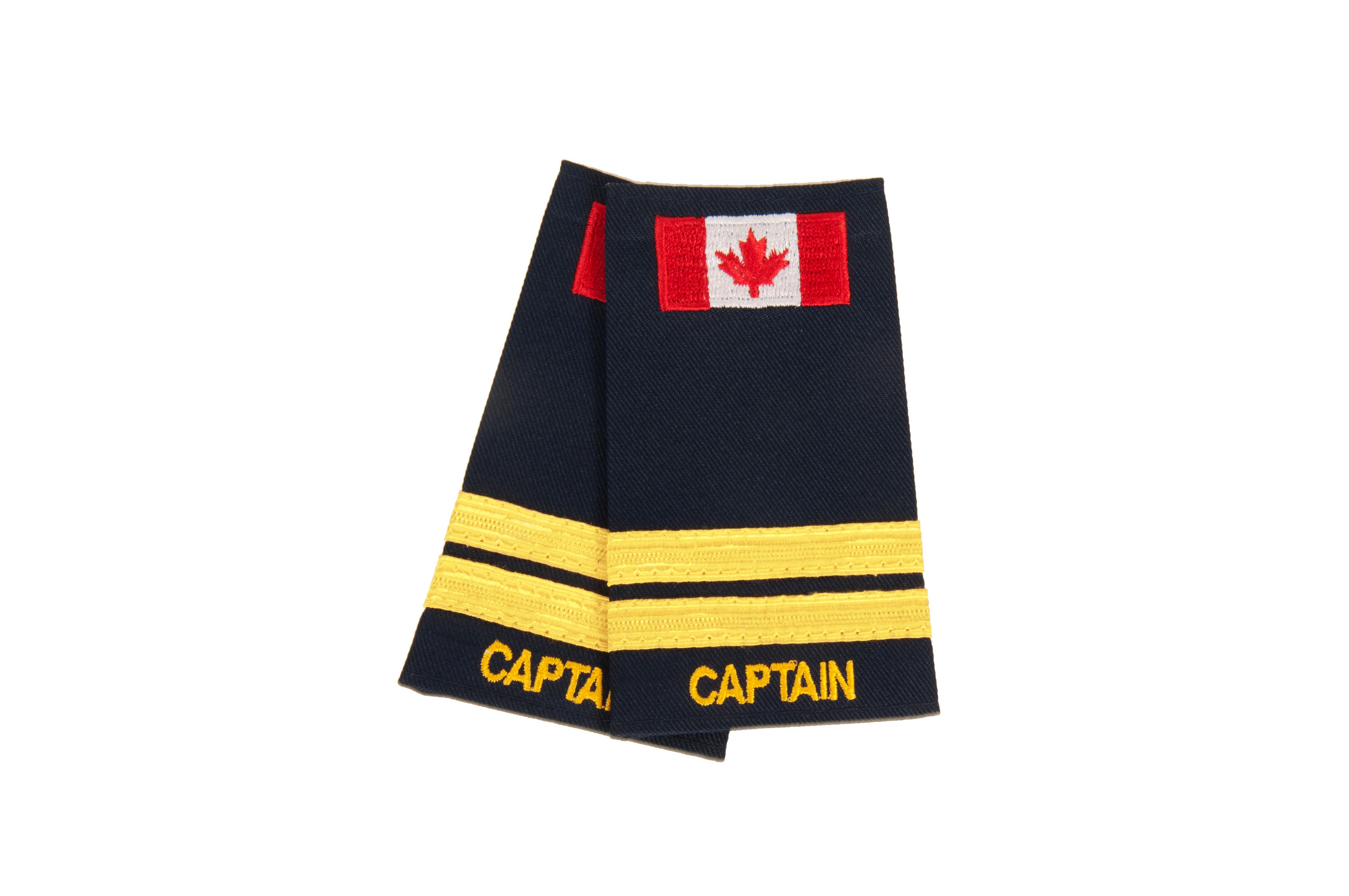 Metallic Captain 2 Braid Slip-On with Canadian Flag-