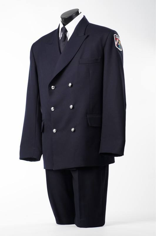 Six Button Double Breasted Tunic Jacket Male-Derks Uniforms