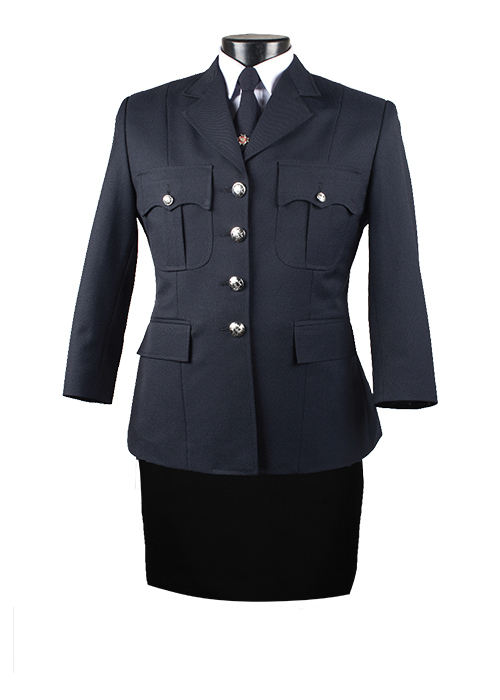 Female Four Button Single Breasted Tunic Jacket Pant Combo-Derks Uniforms