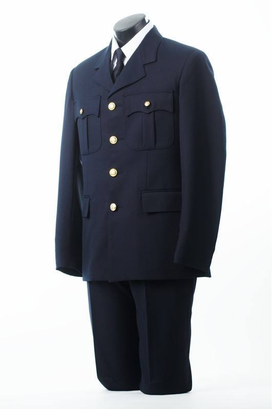 Male Four Button Single Breasted Tunic Jacket Pant Combo-Derks Uniforms
