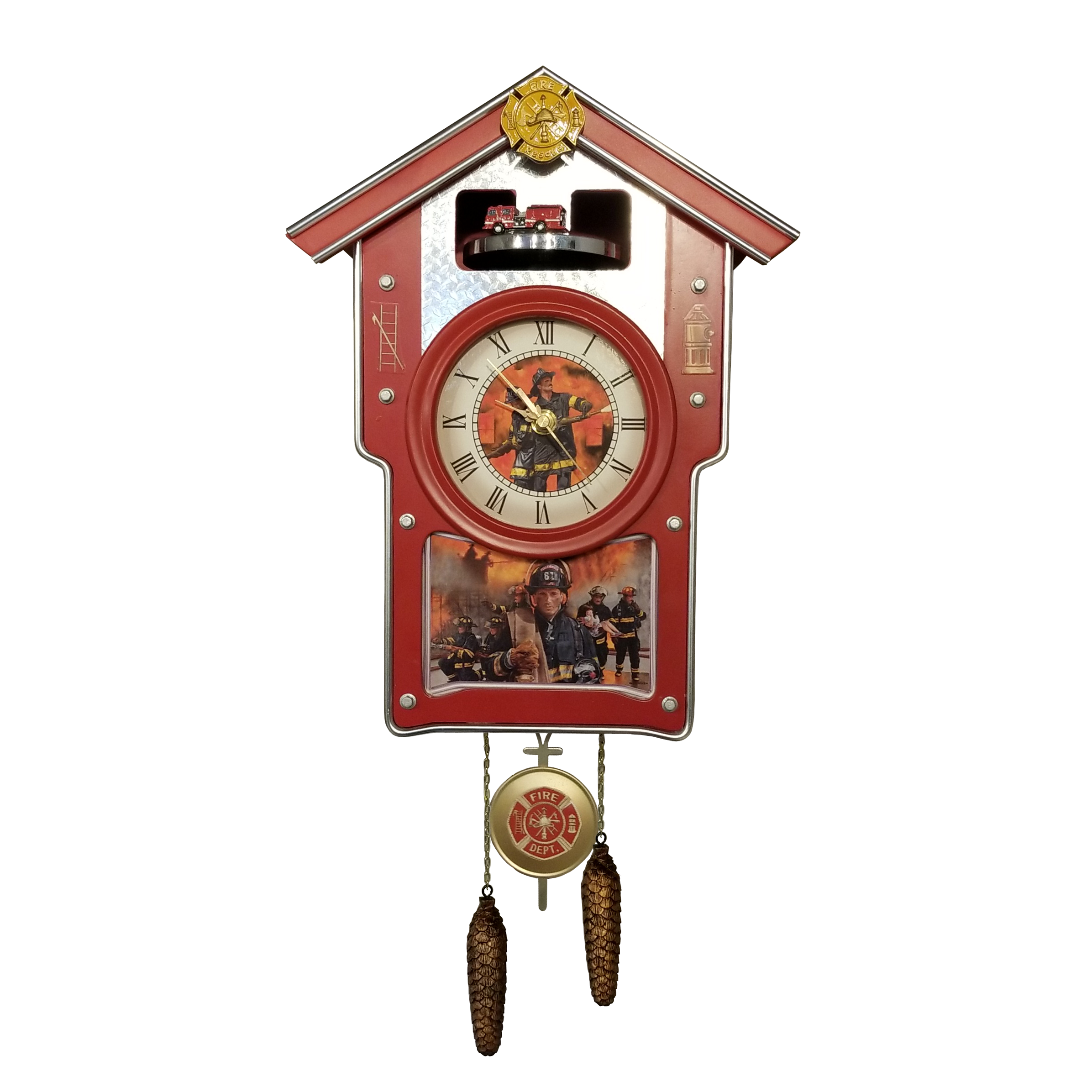 Firefighters Wall Clock-