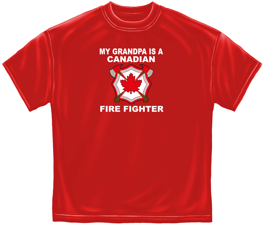 My Grandpa is a Canadian Firefighter Tee -Derks Uniforms