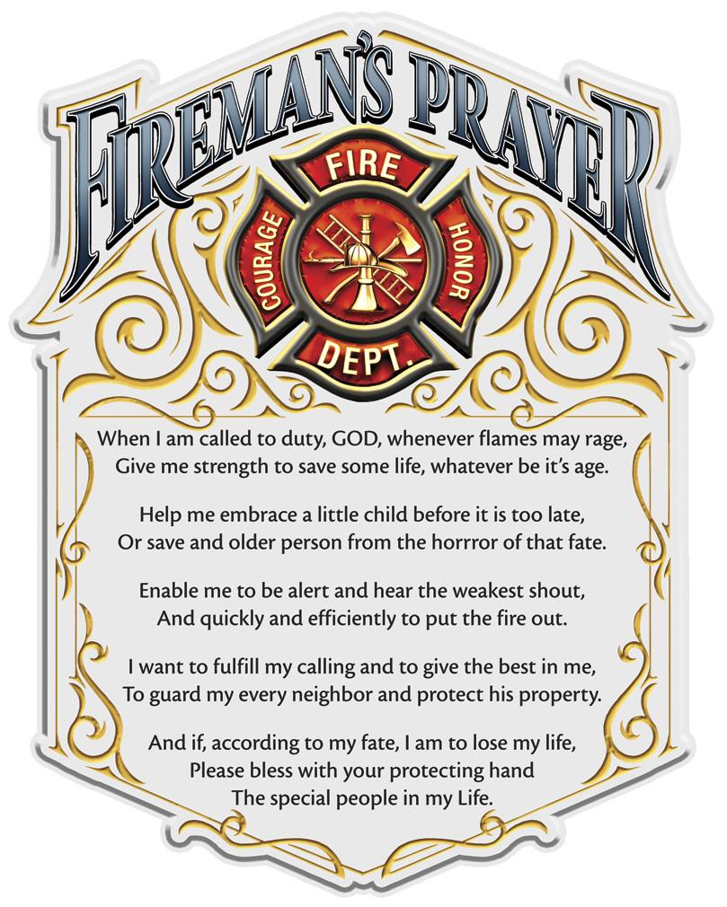 """Fireman's Prayer 6"""" Decal-"""