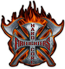 """Hardcore Firefighters Flame 6"""" Decal-"""