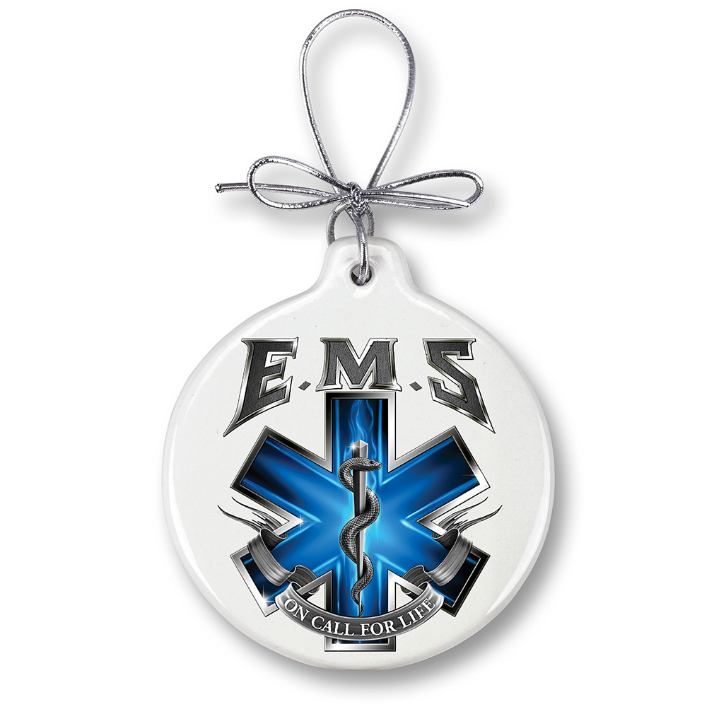 EMS On Call For Life Holiday Ornament-