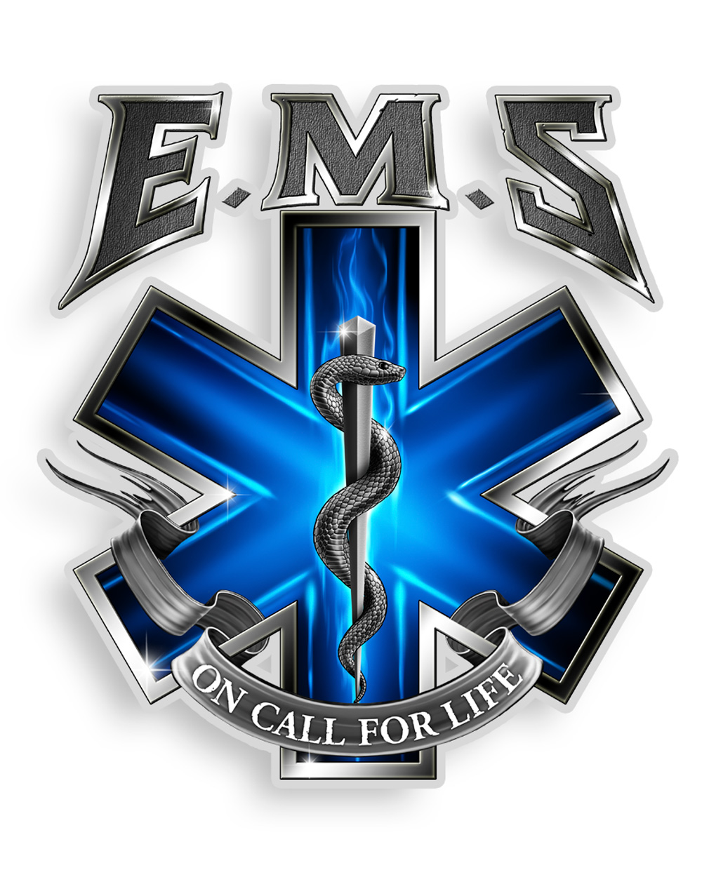 """EMS On Call  6"""" Decal-"""