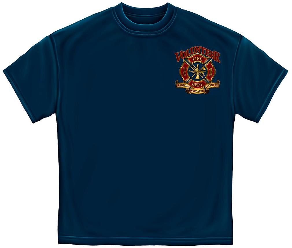 Volunteer Fire Fighter T-Shirt-Derks Uniforms