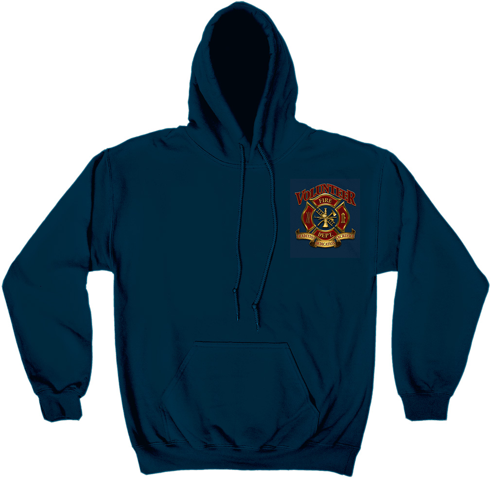 Volunteer Firefighter Blue Hoodie-