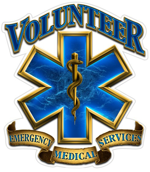 "Volunteer EMS 6"" Decal-"