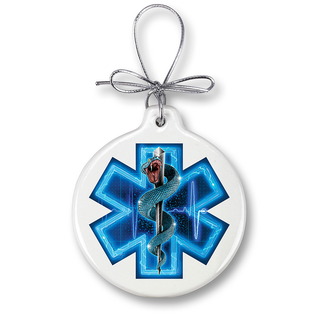 EMS Asclepius Holiday Ornament-