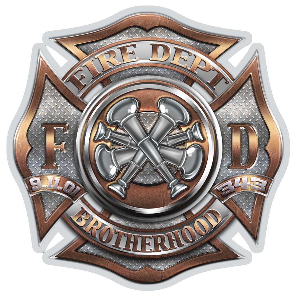 """Fire Dept. Bugle Rank 4 - 6"""" Decal-"""