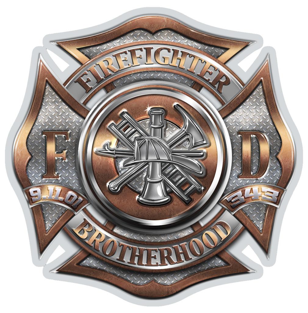 """Firefighter Brotherhood 6"""" Decal-Derks Uniforms"""