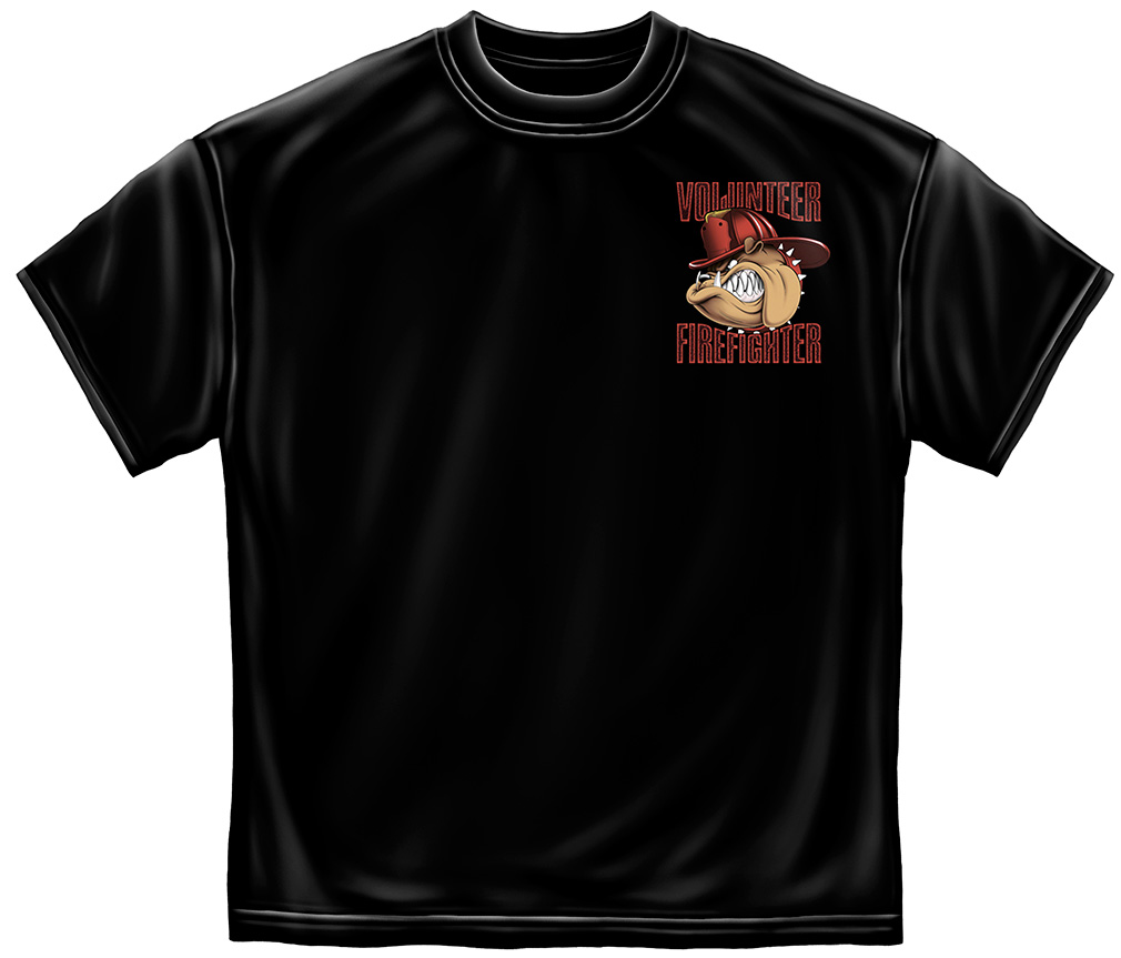 Volunteer Fire Dog T-Shirt-Derks Uniforms