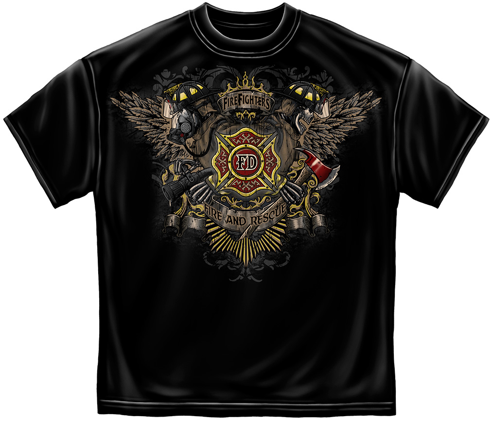 First In Last Out Wings T-Shirt-