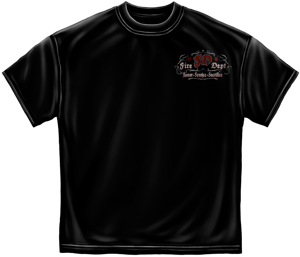 Fire Dept. Scroll T-Shirt-Derks Uniforms