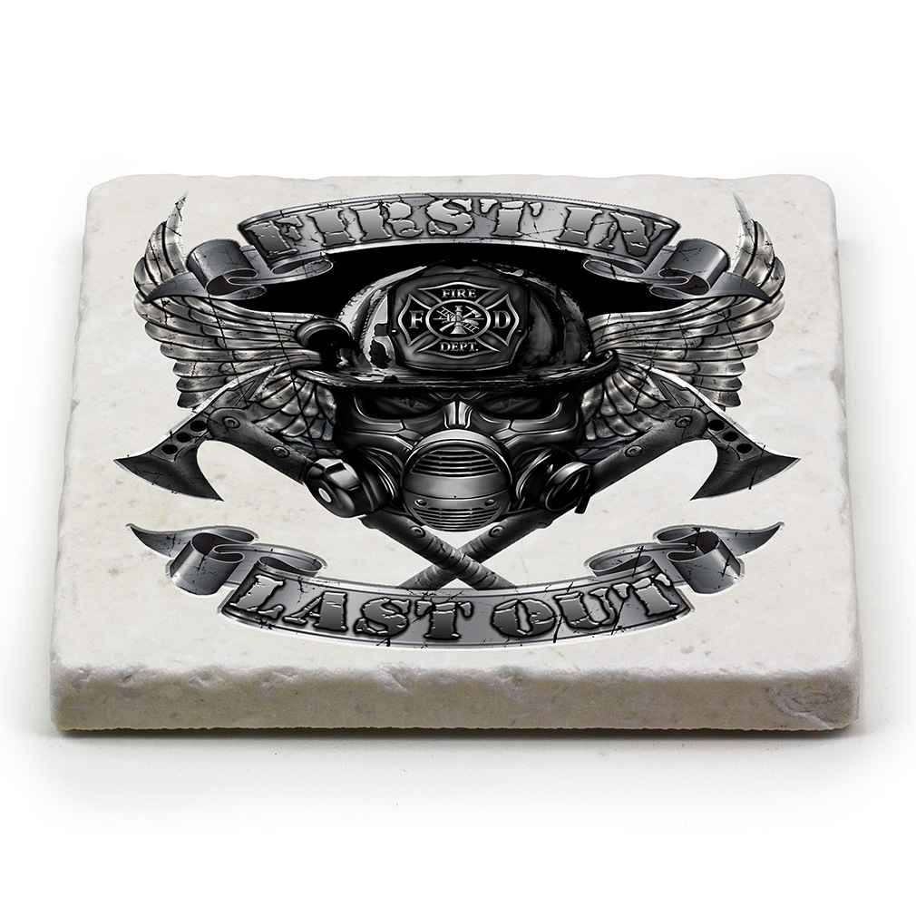First In Last Out Marble Coaster-