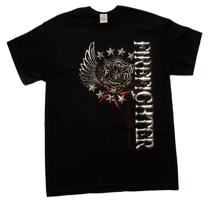 Fire Fighter Wings T-Shirt-Derks Uniforms