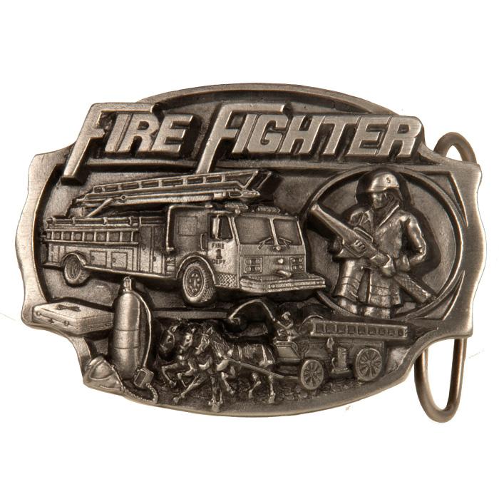 Fire Fighter Relic'd Belt Buckle