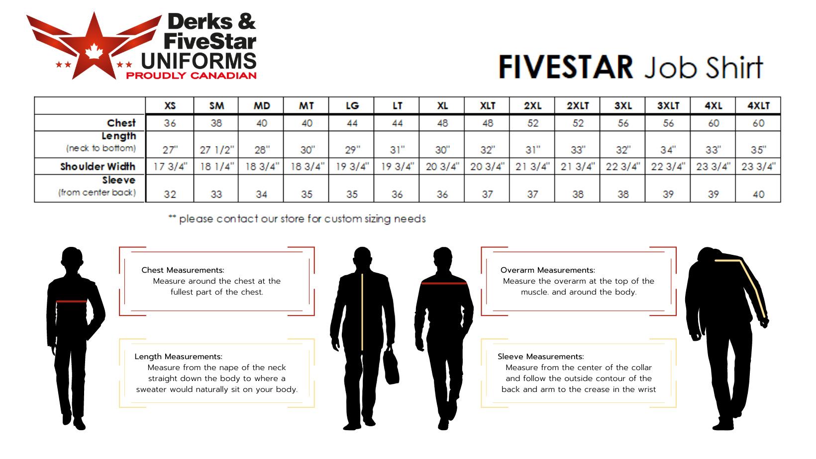 FiveStar By Derks Firefighter Work Shirt