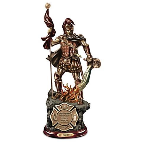 St. Florian Bronze Firefighter Statue-