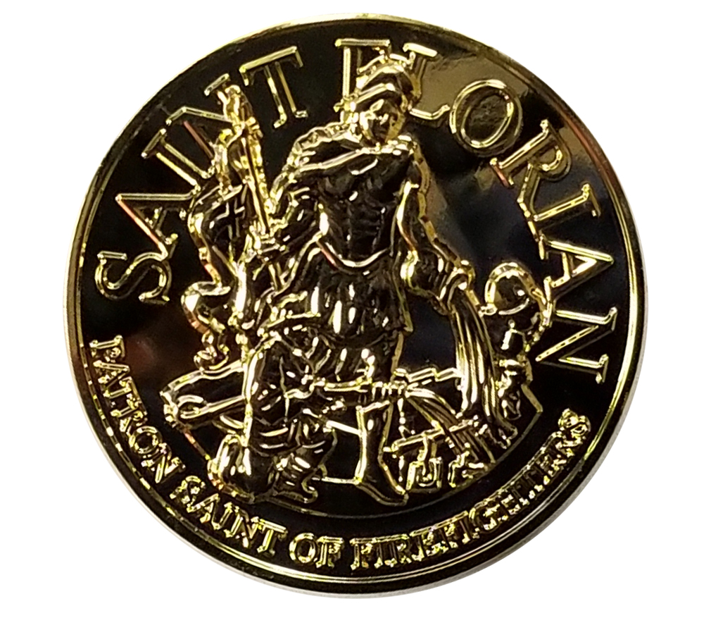 Saint Florian Challenge Coin 2-Derks Uniforms
