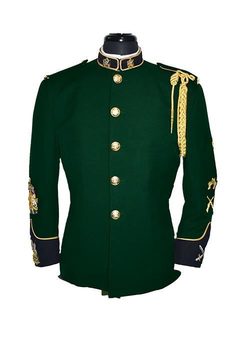 High Collar Green Tunic-