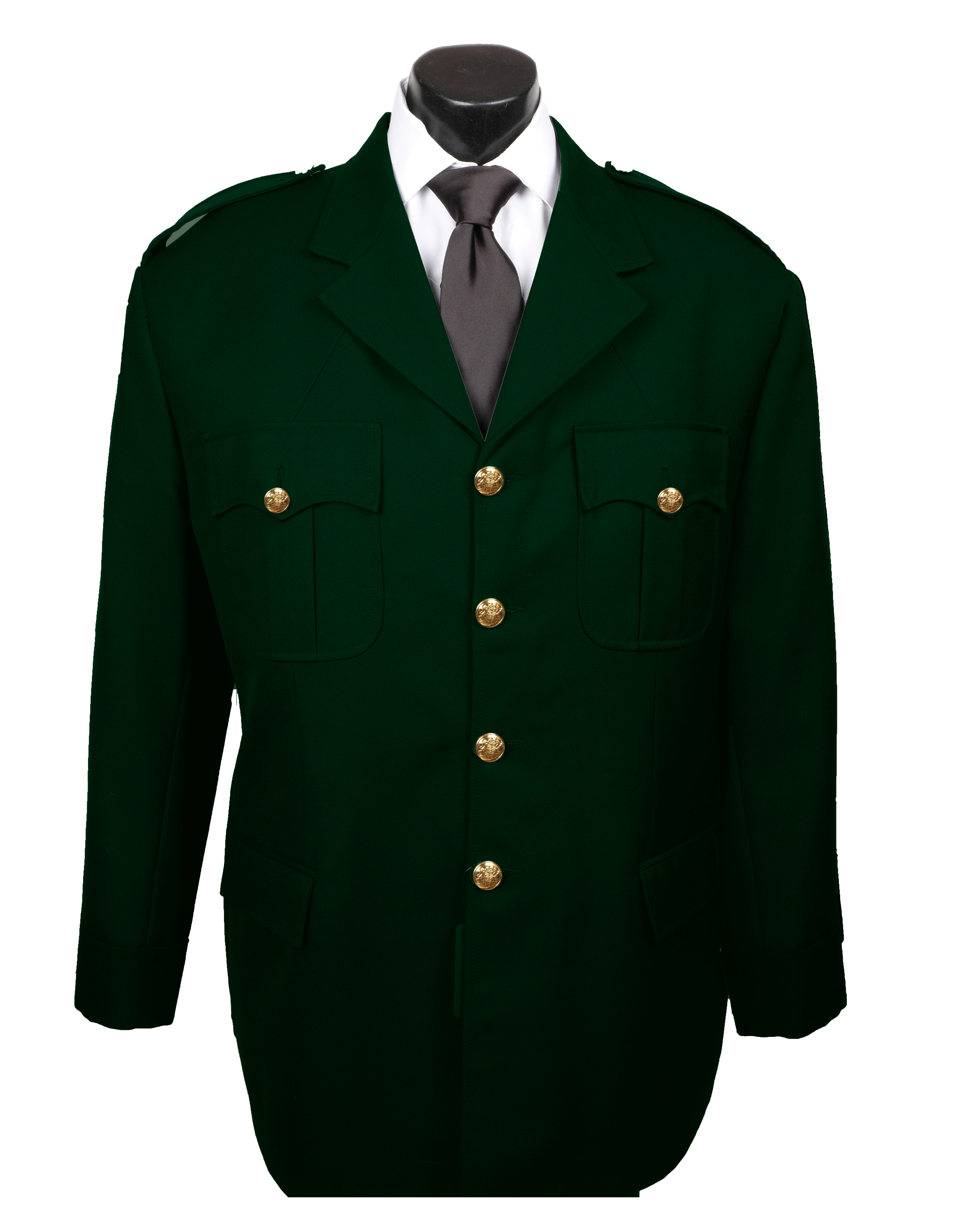 Green Duty Tunic With Pants-