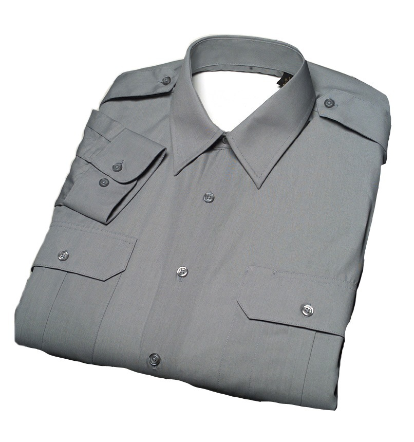 Male Military-Style Long Sleeve Duty Shirt-Derks Uniforms