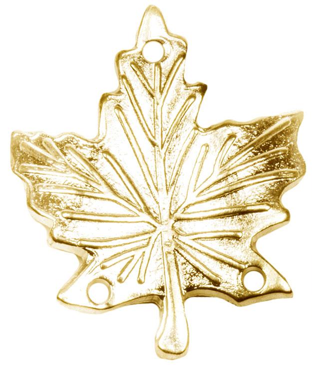 Gold Service Maple Leaf Pendant-