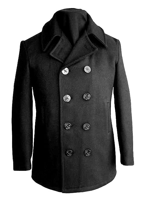Men's Naval Quilted Wool Peacoat-Derks Uniforms
