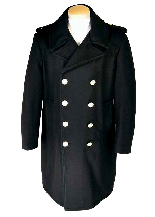 Men's Wool Double Breasted Overcoat-Derks Uniforms