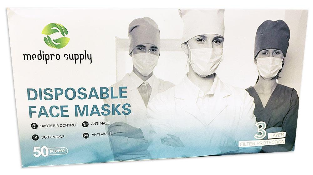 Medipro Supply Disposable Face Masks (Box of 50)-Derks Uniforms