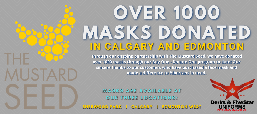 1000 MASKS DONATED THROUGH DERKS AND THE MUSTARD SEED