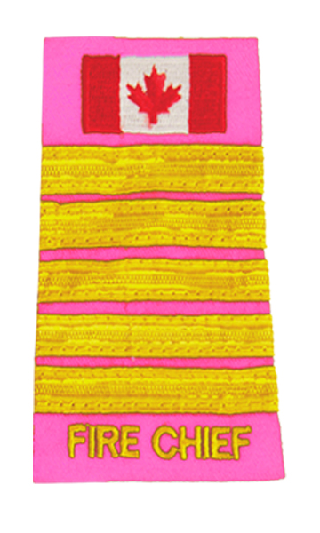 Fire Chief 5 Braid Slip-On with Canadian Flag-Derks Uniforms