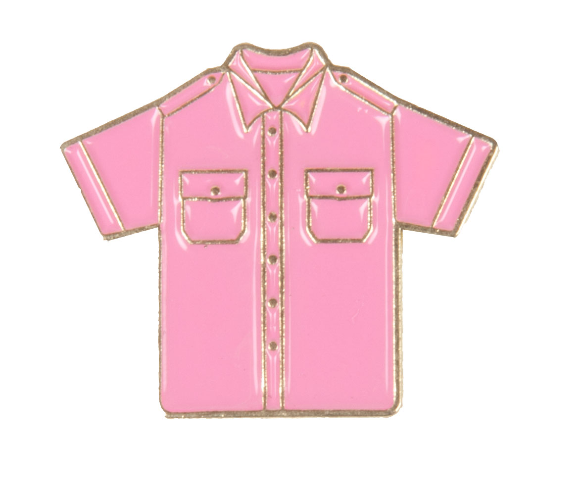 Anti-Bullying Pink Uniform Shirt Pin -Derks Uniforms