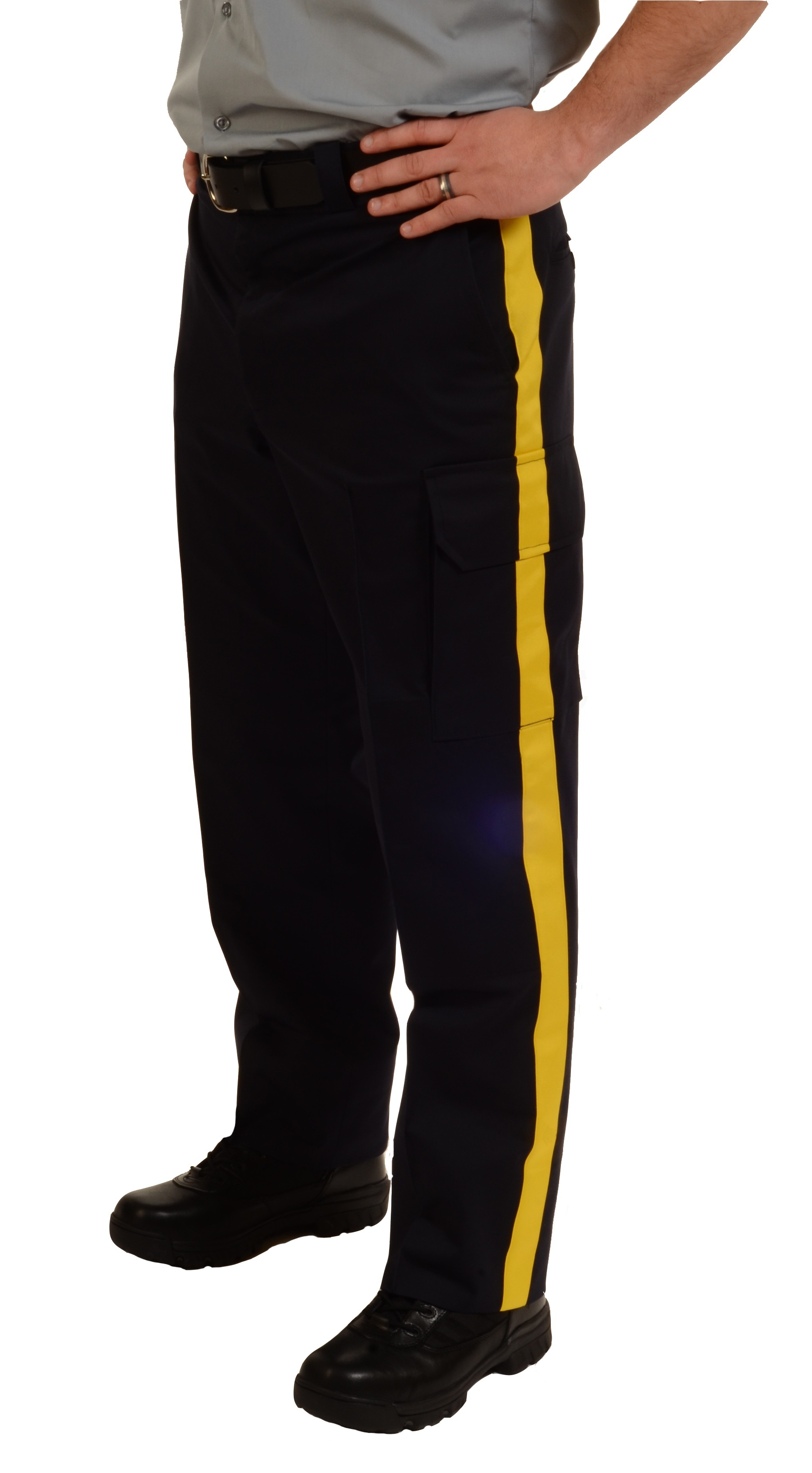 Striped Duty Flex Waist Pants with Cargo Pockets-Derks Uniforms