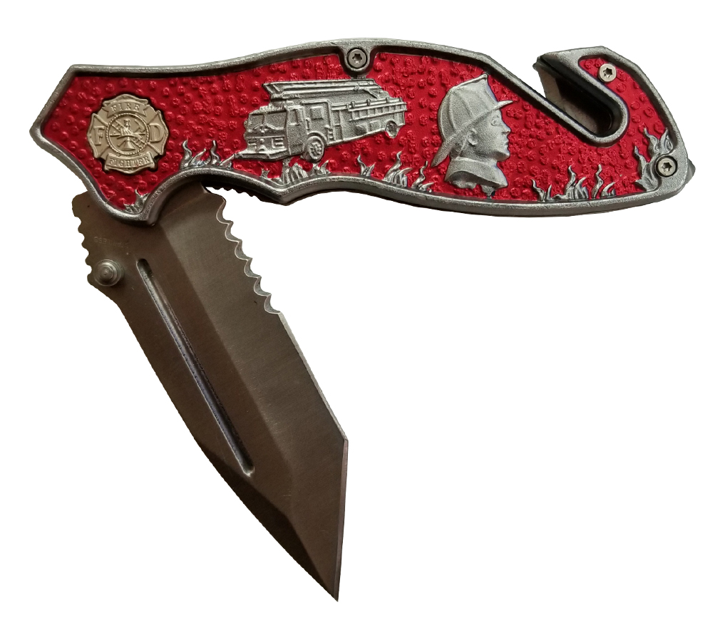 Multiple Image Fireman's Utility Knife  -