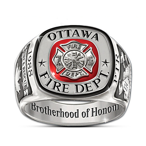 Customized Firefighters Tribute Ring-