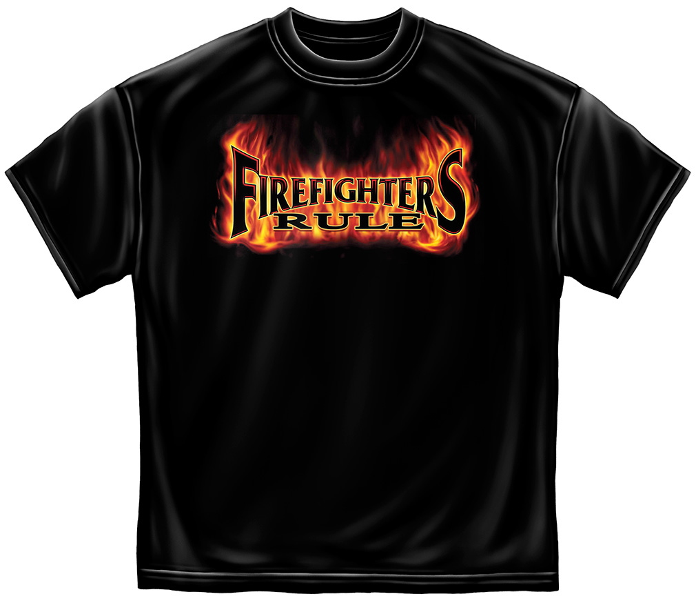 Fire Fighters Rule T-Shirt-Derks Uniforms