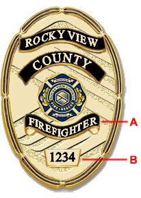 Rocky View County Firefighter Badge-