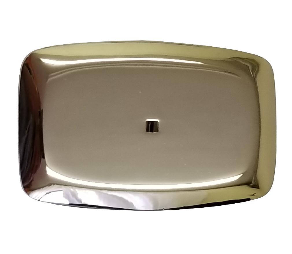 Silver Mirrored Belt Buckle-Derks Uniforms