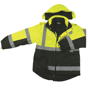 Two Tone Six-In-One Four Seasons Reversible - Rain Safety Jacket-Derks Uniforms